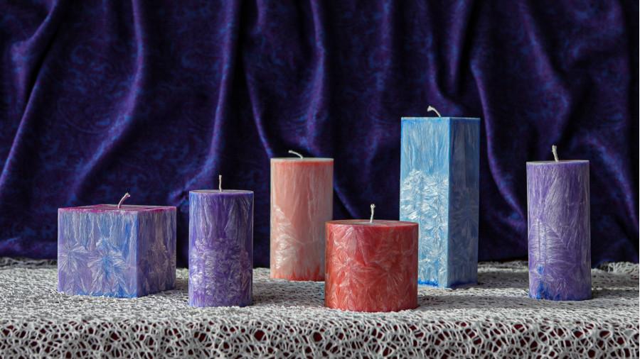 Ručně vyráběné svíčky